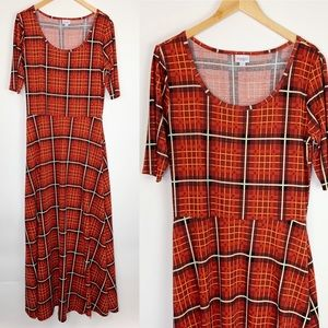 LuLaRoe Ana Maxi Dress Size 2XL Red Plaid